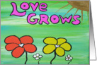 Love Grows - Flowers - Gold Sun card