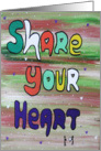 Share your Heart card