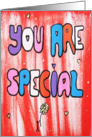 You are Special- Colorful Words card