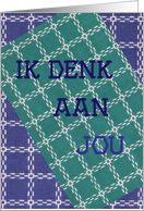 Thinking of You in Dutch card