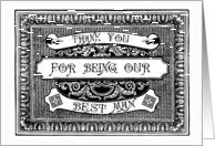 Thank You Best Man card