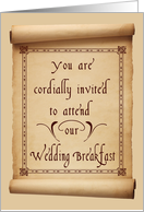 Wedding Breakfast Invitation card