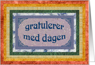 Birthday Norwegian - Norsk card