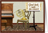 Good Luck in Concert with Horn card