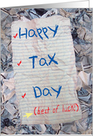 Tax Day Wishes - April 15 card