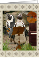 Wedding Music Request - Penguin String Players card