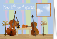 Adoption Congratulations, Multiple Children, Quartet of Instruments card