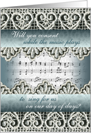 Wedding Request, Sing for Us card