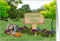 Thank You for a Wonderful Meal - Outdoor Scene card