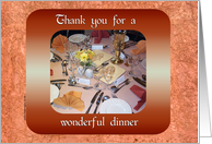 Thank You for Dinner card