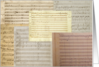 Mozart Music Manuscript Notecard card