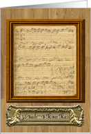 Bach Music Manuscript B Minor Mass card
