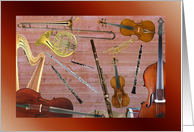 Orchestra Instruments, Any Occasion card