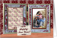Happy New Year, Photo Card Frame and Calendar card