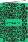 Invitation, Decorative Floral Frame card