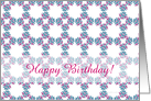 customizable elegant pattern happy birthday Card