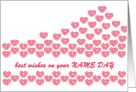 name day's hearts of love card