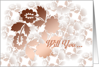 will you ... in shadow blossoms card