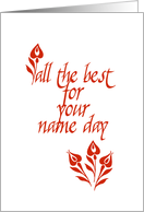 all the best - name day card