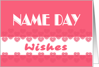 name day wishes card