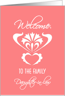 family welcome daughter in law card