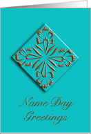 elegant name day greetings card