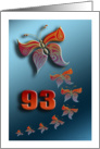 butterfly birthday 93 years old card