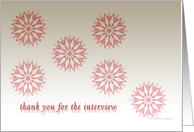 business interview thank you card