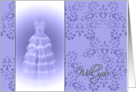 will you ..., blue dress card