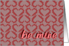 be mine hearts card