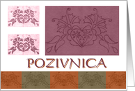 croatian decorative general invitation card