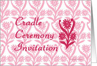 ornamental cradle ceremony invitation card