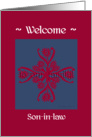 son-in-law welcome to the family, big floral hug, ornamental style card