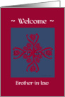 brother-in-law welcome to the family, big floral hug, ornamental style card