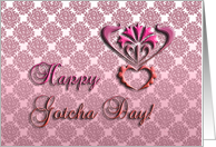 daughter, happy gotcha day, decorative floral design, ornamental style card
