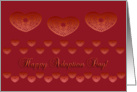 happy adoption day, decorative hearts, ornamental style card