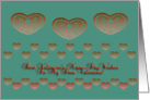 valentino, valentine name day wishes, decorative hearts, ornamental style card