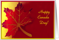 Happy Canada Day - Red Maple Leaf card