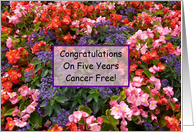 5 Years Cancer Free card