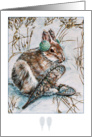 Snow Shoe Hare~Easter card