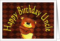 Birthday from child, uncle, bear card