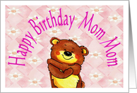 Birthday from small child, to Mom Mom, Bear Hugs card