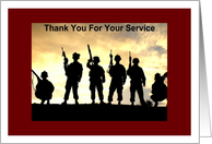 Military, Thanks for Service card