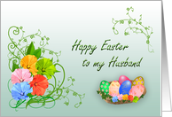 Happy Easter Husband card