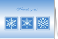Thank you for the Christmas gift card with snowflakes. card