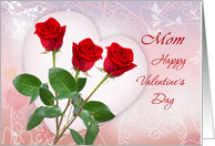 Valentine's Day card for Mom with red roses and heart. card