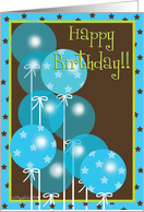 stars and balloons birthay card
