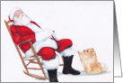 Santa and Pomeranian card