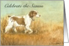 Thanksgiving Brittany Spaniel card