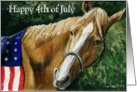 Charlotte 4th of July Horse card